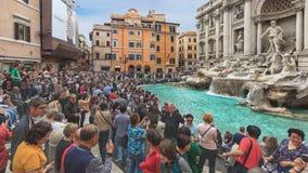 Springbrunn di Trevi i Rome Arkivfoto