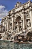 Springbrunn di Trevi i Rome, Italien Royaltyfria Foton