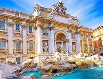 Springbrunn di Trevi, Rome. Italien. Fotografering för Bildbyråer