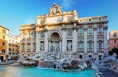 Springbrunn di Trevi, Rome, Italien Arkivbild