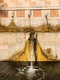 Springbrunn för 99 Cannelle av Aquila Italien Royaltyfri Fotografi