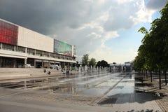 Springbrunn framtill av det Tretyakov gallerit Arkivbild