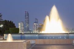 Springbrunn i Abu Dhabi, UAE Fotografering för Bildbyråer