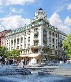 Springbrunn i Belgrade, Serbien royaltyfria foton