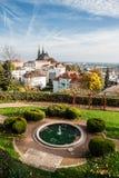 Springbrunn i Brno Fotografering för Bildbyråer
