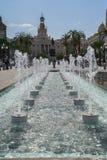 Springbrunn i Cadiz Royaltyfri Fotografi