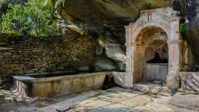 Springbrunn i Canelle - Korsika (Frankrike) Arkivbilder