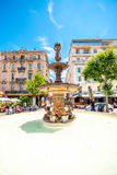 Springbrunn i Cannes Royaltyfria Bilder