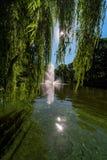 Springbrunn i den Riga kanalen Arkivfoto