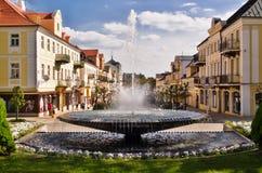 Springbrunn i Franzensbad i Tjeckien Arkivfoton