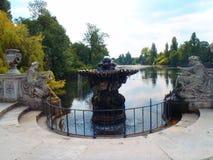 Springbrunn i Hyde Park, London Arkivbild