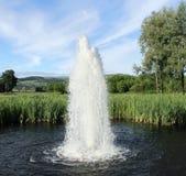 Springbrunn i laken Royaltyfria Bilder