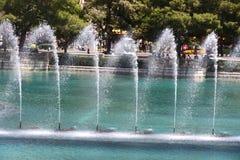 Springbrunn i Las Vegas Royaltyfria Foton