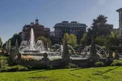 Springbrunn i Milan royaltyfri fotografi