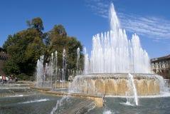 Springbrunn i Milan Royaltyfri Foto