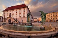 Springbrunn i Olomouc Royaltyfria Bilder