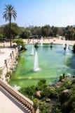 Springbrunn i Parc de la Ciutadella, Barcelona, Spanien Arkivbild
