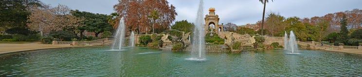 Springbrunn i parkera av citadellen Arkivfoto