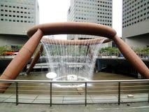 Springbrunn i Singapore Arkivbilder