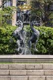 Springbrunn i territoriet av parlamentet av Britannien Fotografering för Bildbyråer