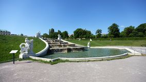 Springbrunn i trädgård av övrebelvederen fotografering för bildbyråer