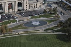 Springbrunn Kansas City royaltyfria bilder