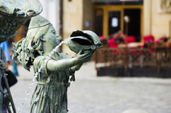 Springbrunn Olomouc, repuplic tjeck Royaltyfri Bild