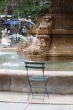 Springbrunn på Bryant Park, New York City Royaltyfri Bild