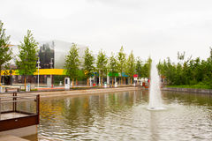 Springbrunn på expon 2015, Milan Royaltyfri Bild