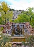 Springbrunn på Ojo Caliente Hot Springs Royaltyfria Foton