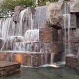 Springbrunn på Roosevelt Memorial Arkivbilder