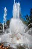 Springbrunn på slottträdgårdar av La Granja de san Ildefons Royaltyfri Fotografi