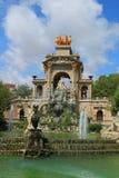 Springbrunn Parc de la Ciutadella Barcelona Royaltyfri Fotografi