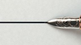 Springbrunn Pen Drawing Line Arkivbilder