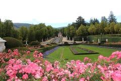 springbrunn Royal Palace av La Granja de San Ildefonso, Segovia, Spanien Fotografering för Bildbyråer