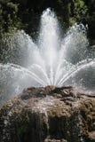 Springbrunn vatten i handling Arkivbilder