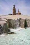 Springbrunn-vattenfall Royaltyfri Foto