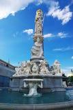 springbrunn vienna Royaltyfri Foto