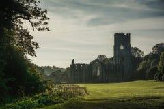 Springbrunnabbotskloster i Yorkshire, England Arkivfoto