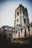 Springbrunnar Abbey Ruins, Ripon UK royaltyfria bilder