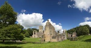 Springbrunnar abbotskloster, North Yorkshire, England, Förenade kungariket Royaltyfri Bild