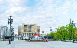 Springbrunnar av Moskva Fotografering för Bildbyråer