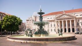 Springbrunnar av Rossio Arkivbild