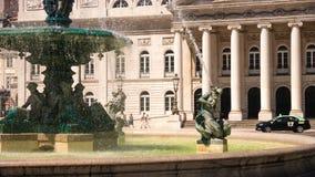 Springbrunnar av Rossio detaljer Arkivbild