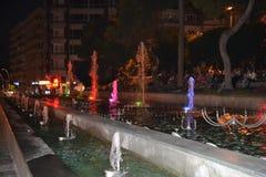 Springbrunnar i den Antalia staden Royaltyfri Bild
