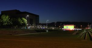 Springbrunnar i färger av den Spanien flaggan lager videofilmer