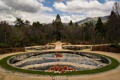 Springbrunnar i trädgård av La Granja de San Ildefonso, Spanien Royaltyfri Foto