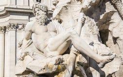 Springbrunnar och statyer av piazza Navona 3 Arkivbilder