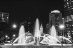 Springbrunnar på stadshuset, Philadelphia, Pennsylvania Arkivbilder