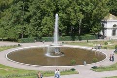 Springbrunnarna av Peterghoff Royaltyfria Foton